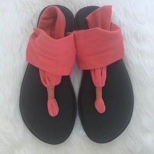 Sanuk Coral Yoga Sling Sandals / Size 8